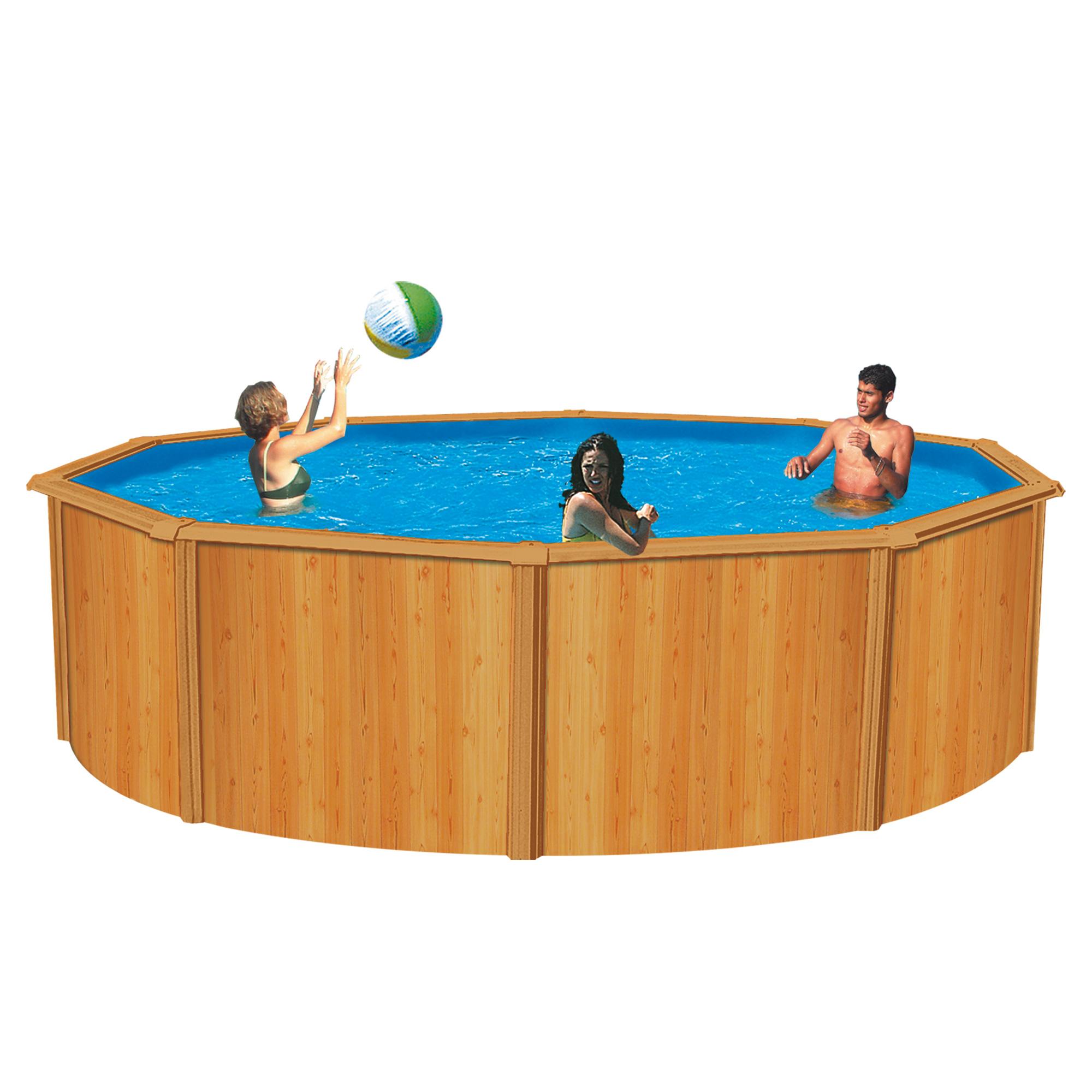 Trigano piscine canyon aspect bois for Piscine aspect bois