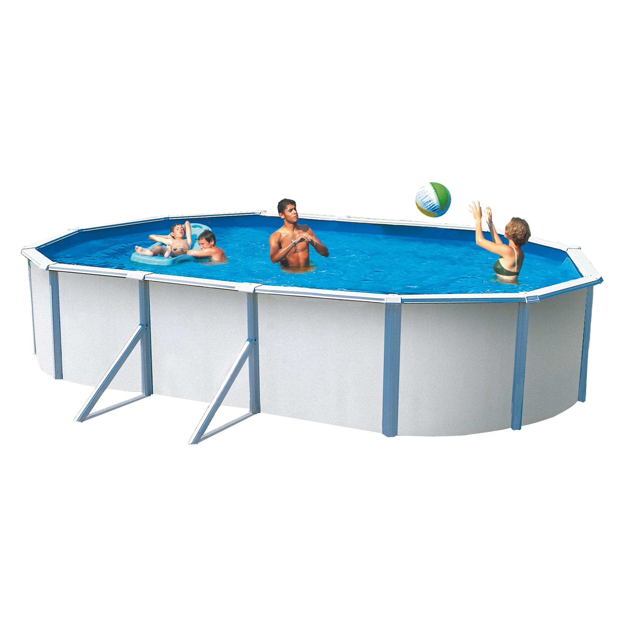 trigano piscine hors sol mtal saphir ovale 635 x 385 m. Black Bedroom Furniture Sets. Home Design Ideas