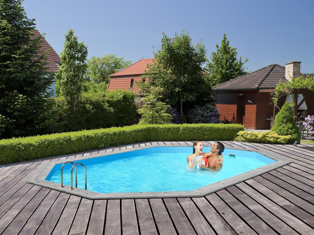 viva piscine bois havana x x m pool. Black Bedroom Furniture Sets. Home Design Ideas