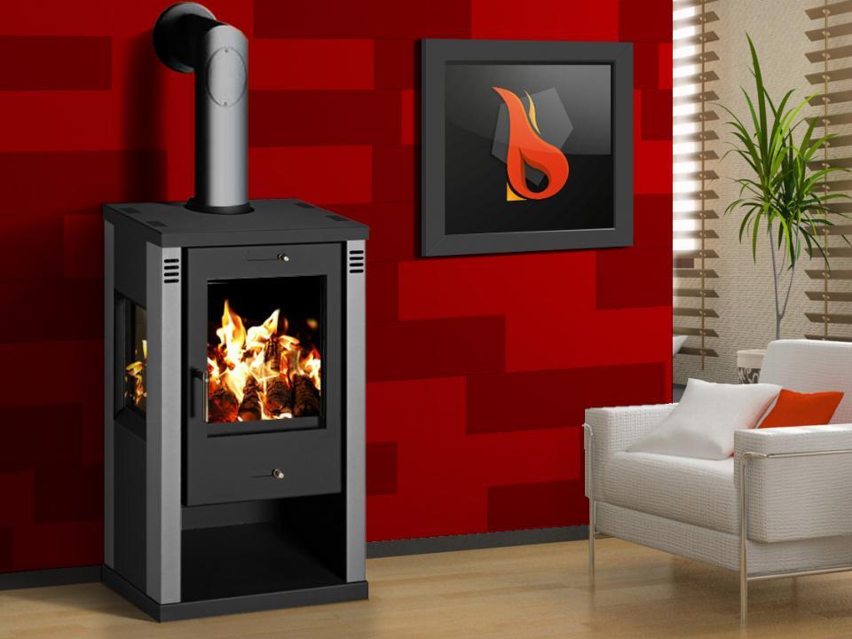 poele chauffage a bois dakota 2 10 de chez supra 9000 w. Black Bedroom Furniture Sets. Home Design Ideas
