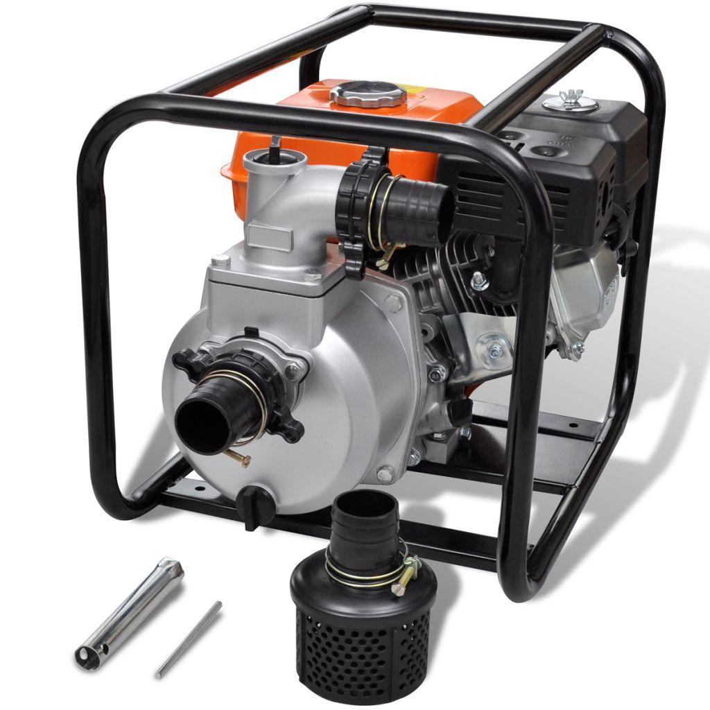 vidaxl c pompe eau moteur essence 50 mm connection 55. Black Bedroom Furniture Sets. Home Design Ideas