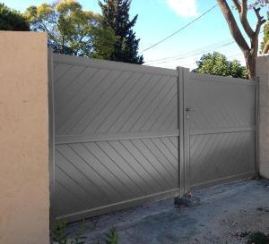 Cat gorie portail du guide et comparateur d 39 achat - Portail aluminium battant 3m ...
