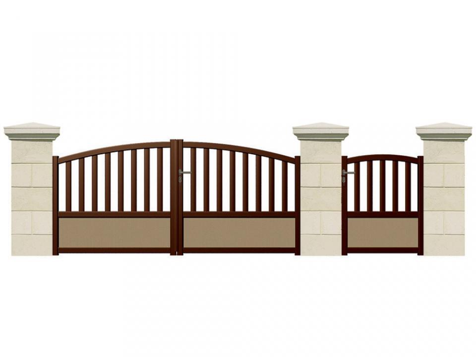 Catgorie portail du guide et comparateur d 39 achat for Portail jardin alu