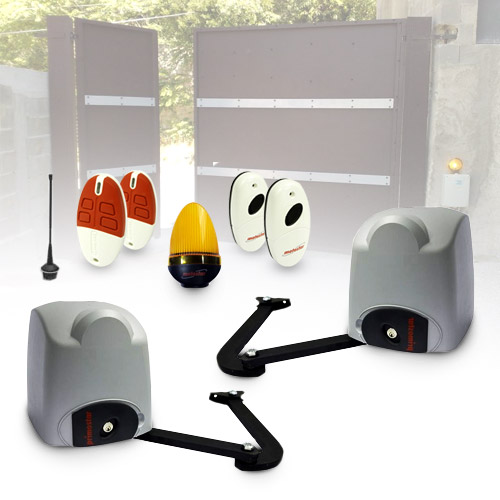 motostar cmotorisation portail 2 battants 200 kg by came p. Black Bedroom Furniture Sets. Home Design Ideas