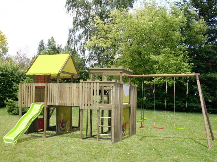 Soulet Portique en bois Nouko catgorie Portiques dextrieur # Jeux Extérieur En Bois