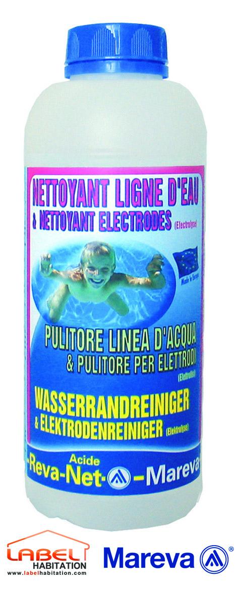 Mareva nettoyant pour ligne deau reva net for Produit piscine mareva