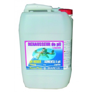 Mareva ph plus reva plus liquide 25 kg for Algues piscine ph