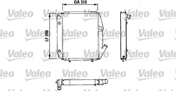 valeo radiateur du moteur 810926