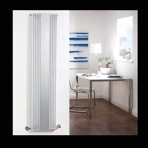 Hudson cradiateur miroir keida blanc 160 x 42cm 935 watts for Miroir horizontal blanc