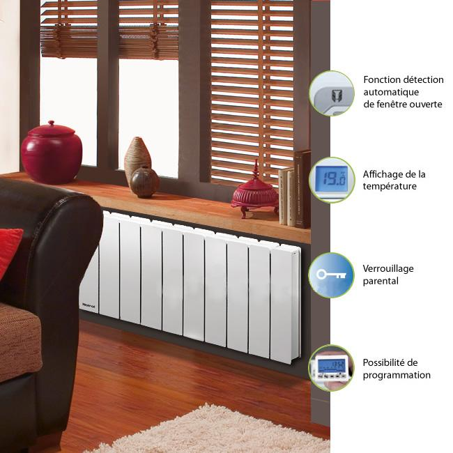 noirot bellagio 2 bas 1500w blanc cat gorie radiateur. Black Bedroom Furniture Sets. Home Design Ideas