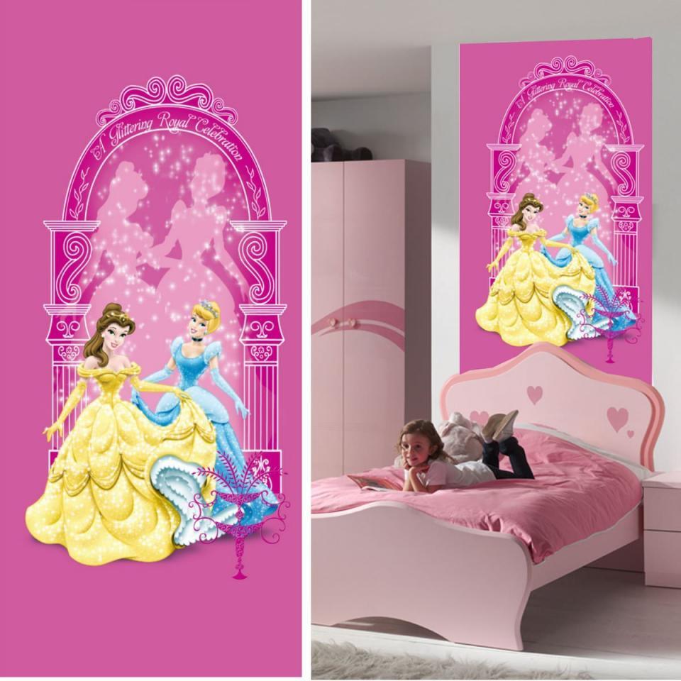 Disney cposter porte belle et cendrillon princesse 90 x for Decoration maison disney
