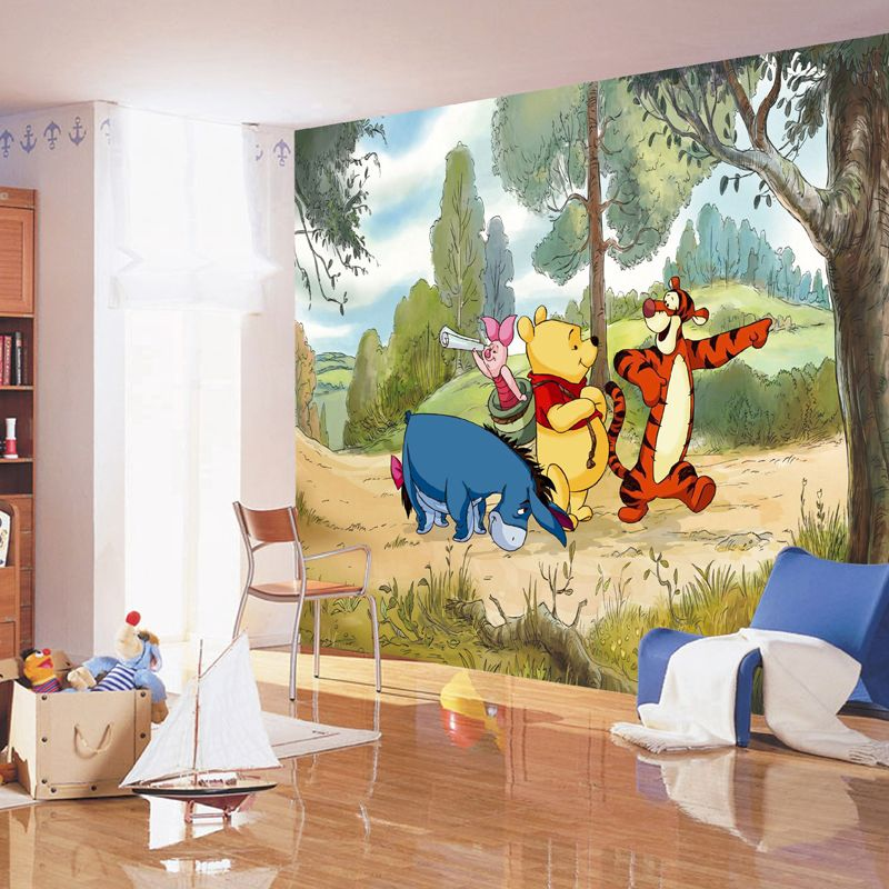 Disney papier peint aventure winnie lourson qualit num for Poster decoratif mural