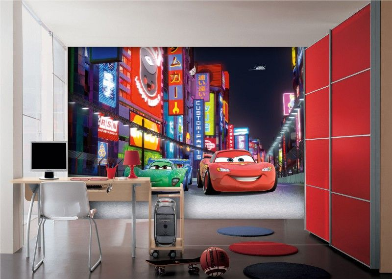 disney papier peint cars flash mcqueen. Black Bedroom Furniture Sets. Home Design Ideas
