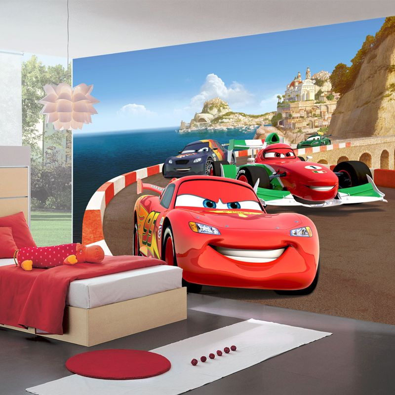 disney papier peint circuit cars qualit num rique. Black Bedroom Furniture Sets. Home Design Ideas
