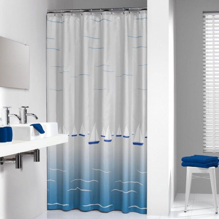 rideau de douche sealskin barca bleu. Black Bedroom Furniture Sets. Home Design Ideas