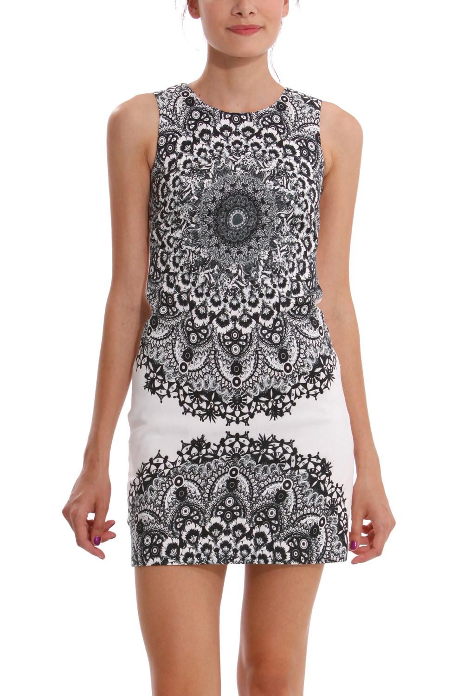 robe desigual noire et blanche la mode des robes de france. Black Bedroom Furniture Sets. Home Design Ideas