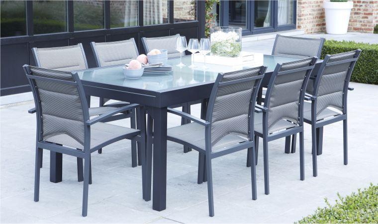 Beautiful Salon De Jardin Table En Verre Avec Rallonge Photos ...