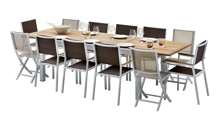 Cat gorie salon de jardin du guide et comparateur d 39 achat for Table bois rallonge 12 personnes