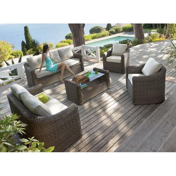 Hesperide salon detente lavidia 7 places cat gorie table - Salon detente jardin ...