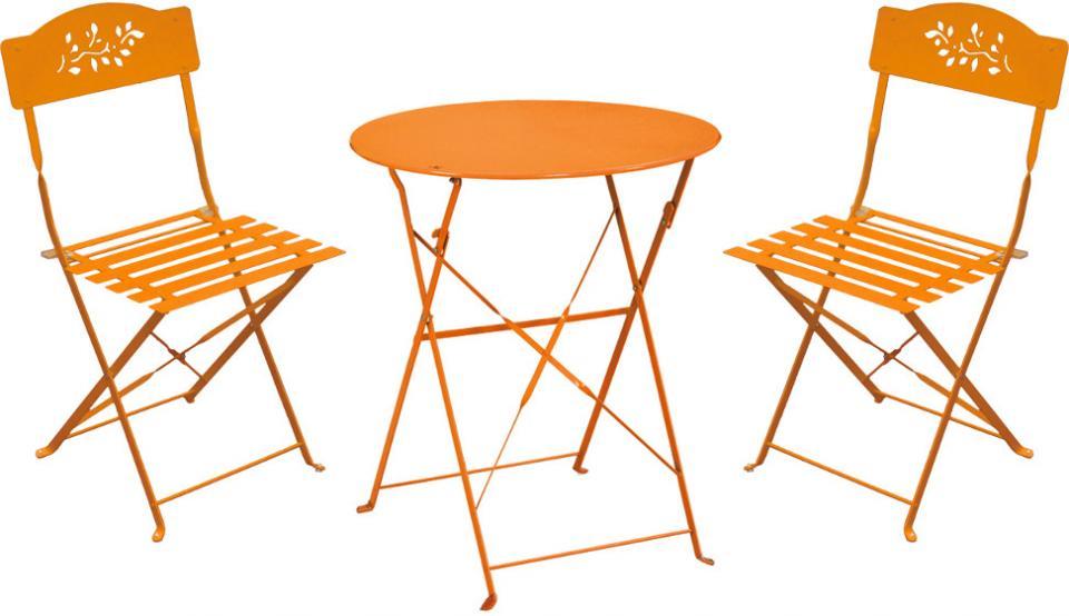 Table et chaise de jardin couleur taupe des id es int ressantes pour la - Chaise salon de jardin orange ...