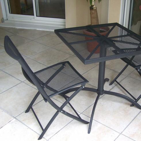 Deco censemble table ronde 6 fauteuils encastrables catgorie salon de jardin - Deco chine salon de jardin ...