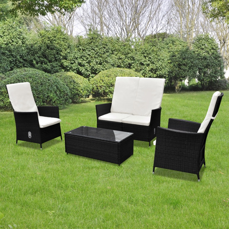 vidaxl ensemble salon de jardin multifonctionnel en rotin. Black Bedroom Furniture Sets. Home Design Ideas