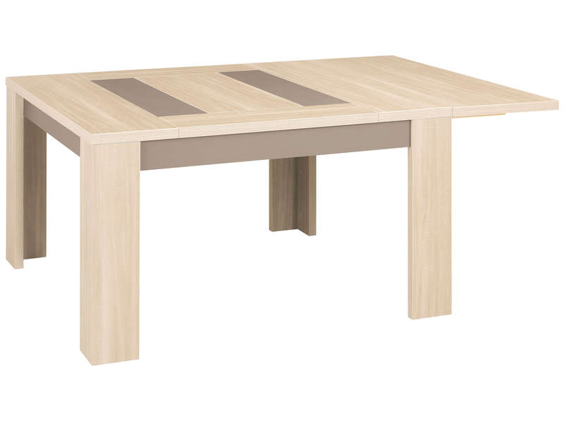 Table avec rallonge integree conforama for Table ronde rallonge integree