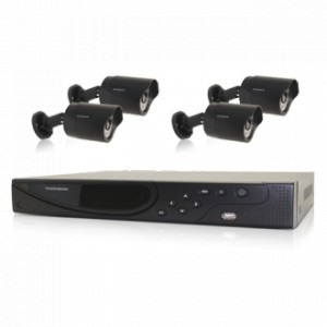 thomson kit de vid osurveillance nvr 8 canaux 4 cam ras 5. Black Bedroom Furniture Sets. Home Design Ideas