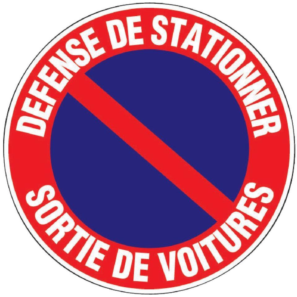 Signalisation guide d 39 achat for Stationnement devant garage sans panneau