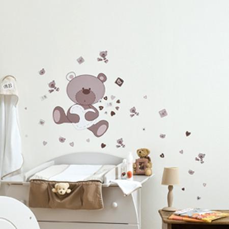 Stickers Muraux Nounours Matelas 2017