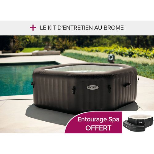 intex spa gonflable octogonal st rilisateur bulles jet. Black Bedroom Furniture Sets. Home Design Ideas