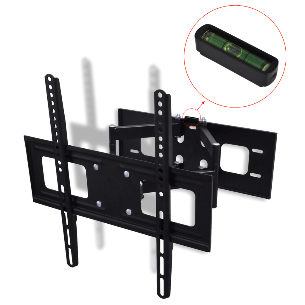 vidaxl support mural tv double bras orientable et inclina. Black Bedroom Furniture Sets. Home Design Ideas