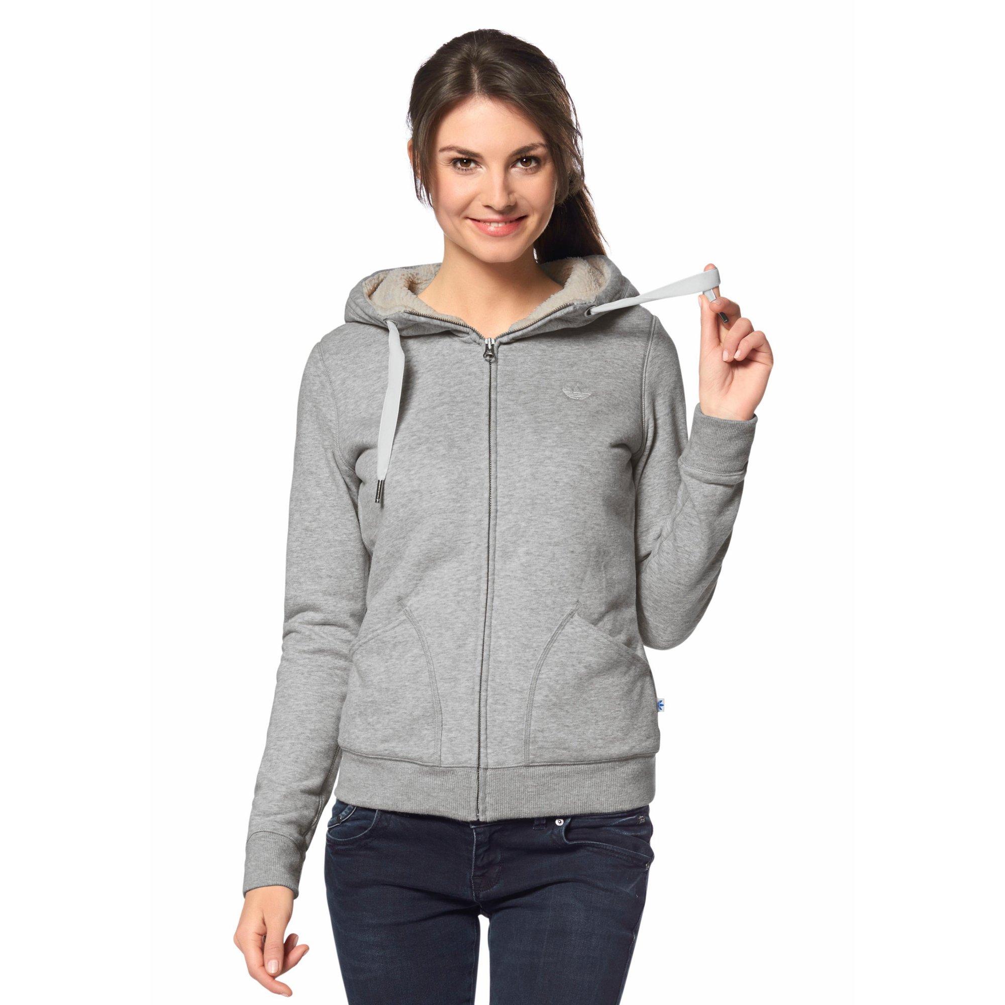 La Femme Capuche Zippé 8wq4x Soldes Sweat Adidas Originals À qwFn6ZtT
