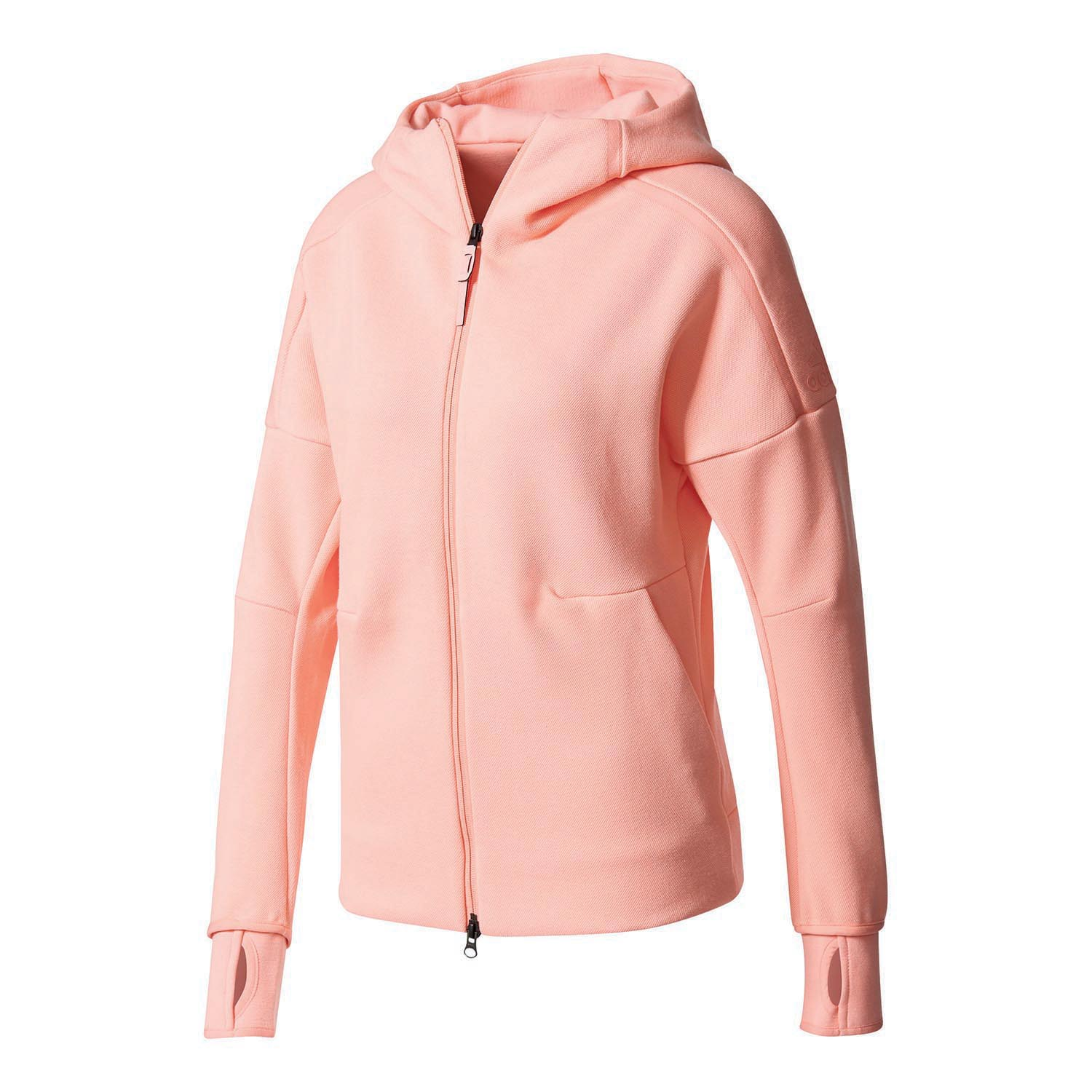 adidas zne hoody veste capuche femme vieux rose. Black Bedroom Furniture Sets. Home Design Ideas