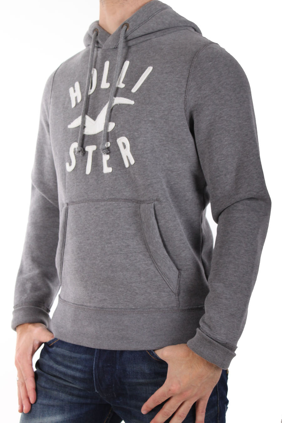hollister hoodie sweat capuche by abercrombie gris. Black Bedroom Furniture Sets. Home Design Ideas