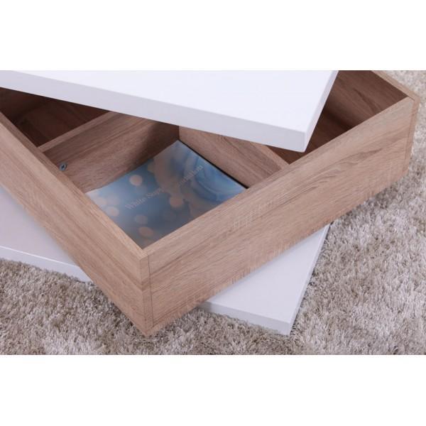 Table basse blanc hauteur 45 cm - Table basse 40 cm largeur ...