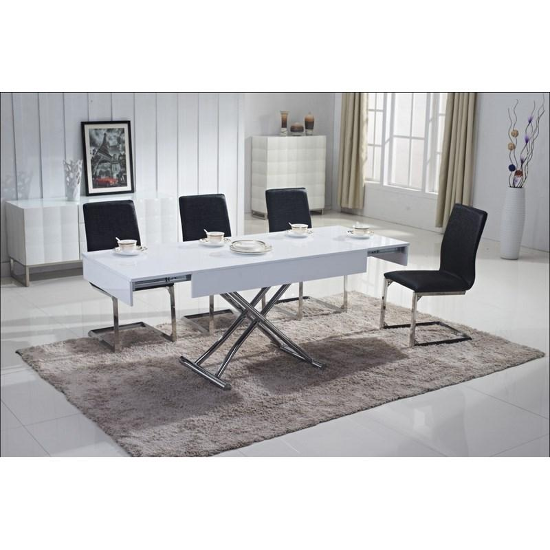 Table basse relevable extensible comparateur - Table basse relevable blanc laque ...
