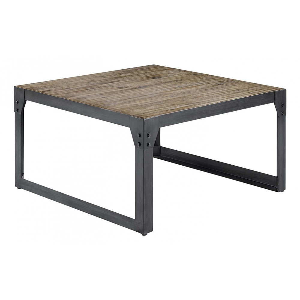 Table industrielle bois metal 28 images table basse for Table basse carree industrielle