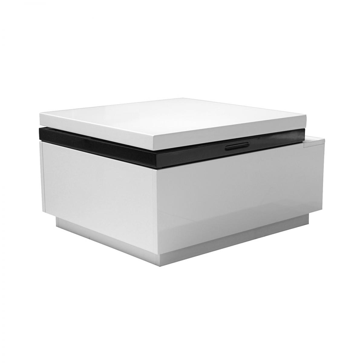 Ligne fabia blanche ubaldi table basse for Petite table basse blanche