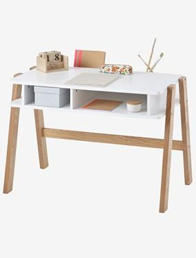 terre bureau enfant bois blanc bu2001 de nuit. Black Bedroom Furniture Sets. Home Design Ideas