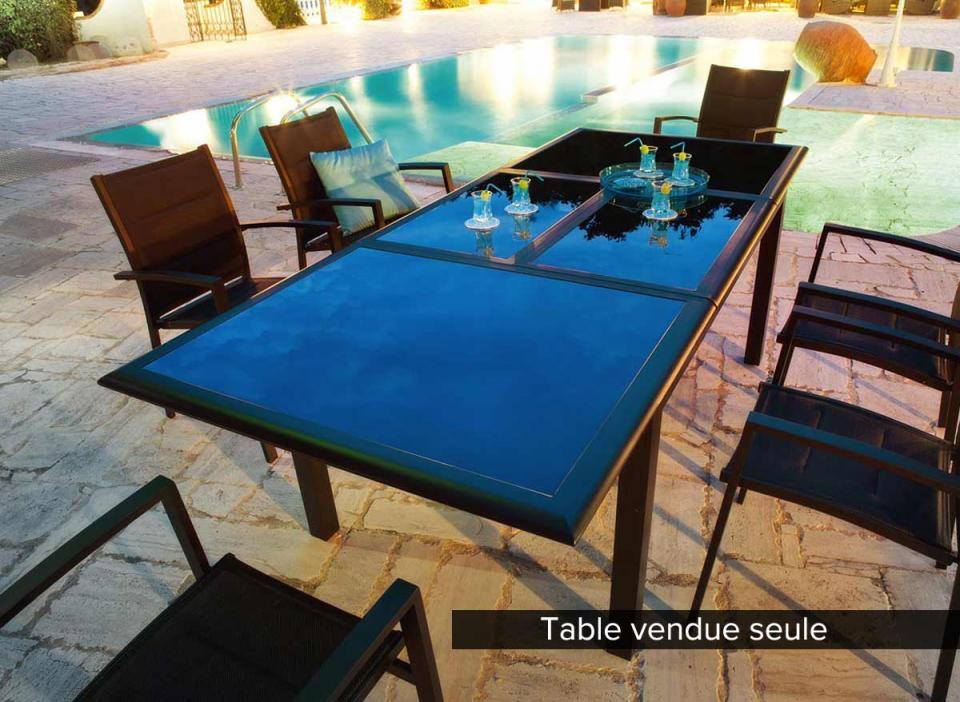 Best table de jardin en resine libeccio grise anthracite for Table extensible grise