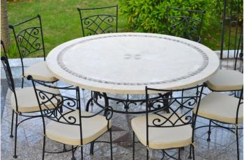 Catgorie table de jardin du guide et comparateur d 39 achat Table salon de jardin ronde
