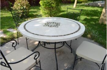 Cat gorie table de jardin page 2 du guide et comparateur d 39 achat - Table de jardin ronde dessus mosaique ...