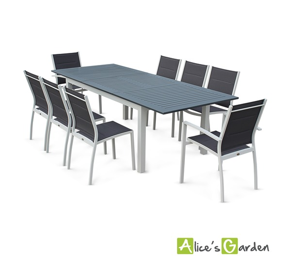 Alice c s garden salon de jardin 8 places table rall for Alice s garden meuble de jardin