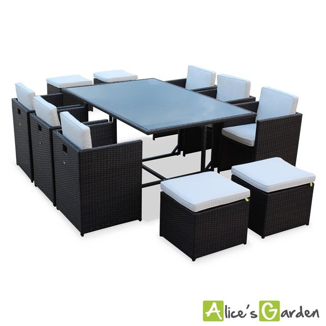 alice c s garden salon de jardin aluminium table 150cm 6 fauteu. Black Bedroom Furniture Sets. Home Design Ideas