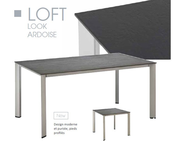 kettler table loft ardoise 220x94 cm couleur anthracite. Black Bedroom Furniture Sets. Home Design Ideas