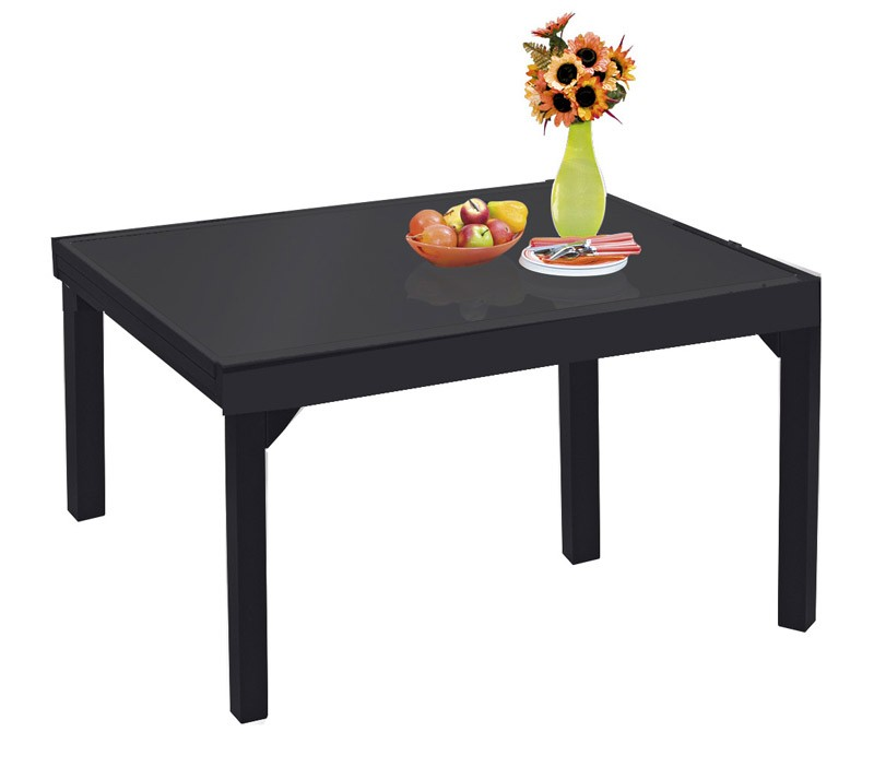 wilsa table de jardin modulo grise en aluminium 6 10 personnes. Black Bedroom Furniture Sets. Home Design Ideas