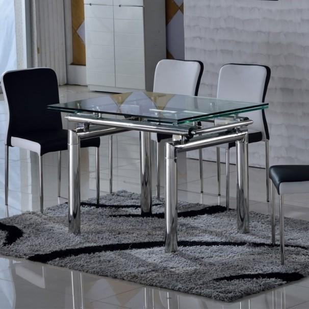 Catgorie tables de salle manger du guide et comparateur d for Table en verre extensible design