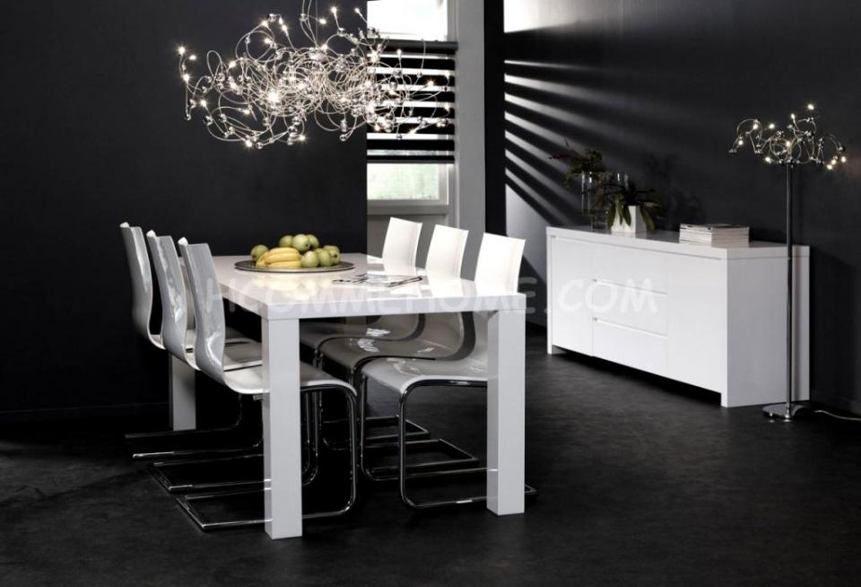 Salle blanche guide d 39 achat for Table salle a manger blanche