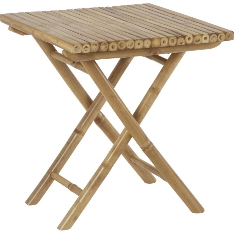 Hanjel table de jardin pliante en bambou largeur 50 x pr for Table exterieur largeur 50
